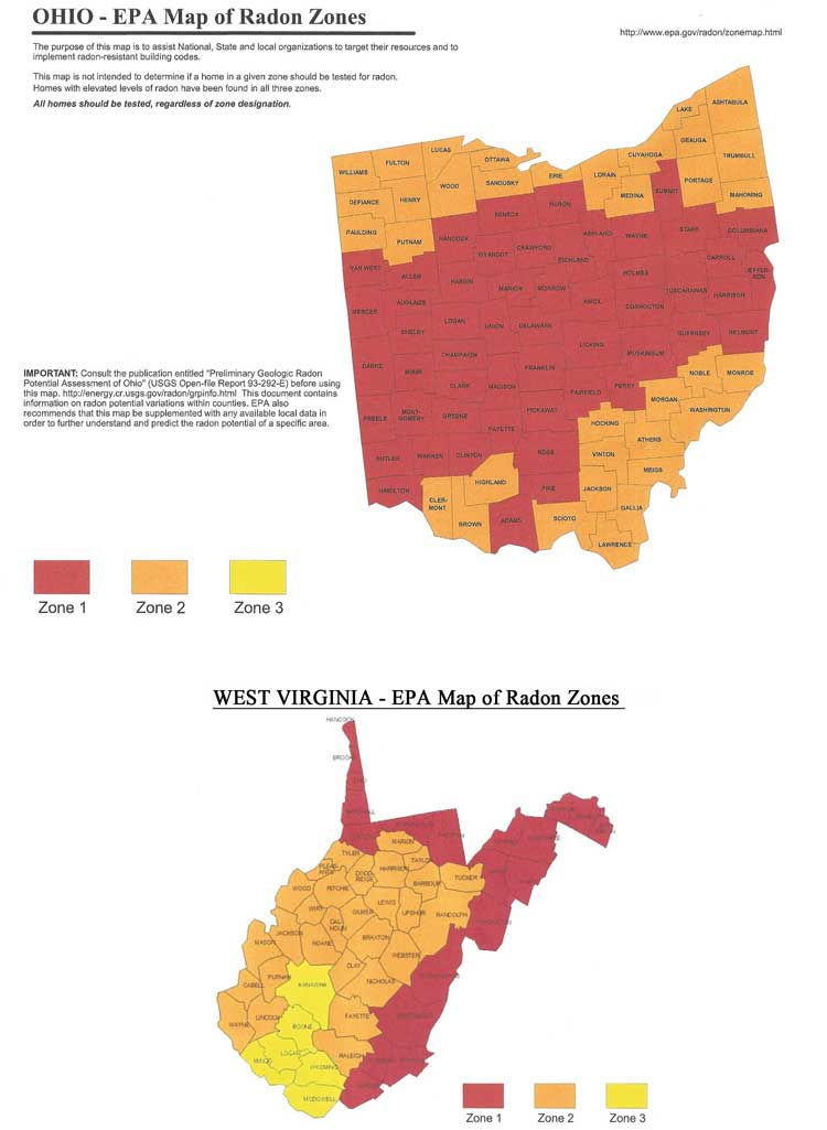 Radon Zones